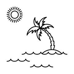 island with palm icon