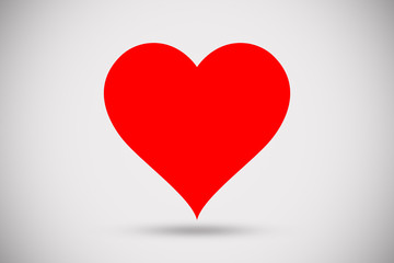 red heart design shape love