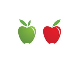 Apple vector illustration template
