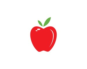 Apple vector illustration template