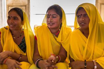 Traditional Indian Women in sari Costume