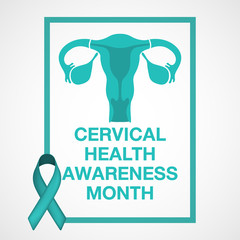 Cervical Health Awareness Month logo vector illustration