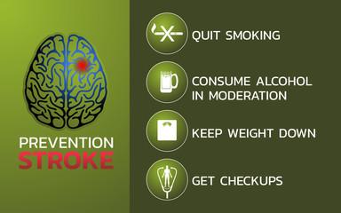 Prevention for stroke icon design, infographic health, medical infographic. Vector illustration