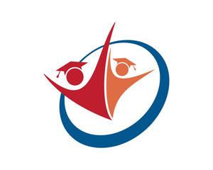 education scholar figure education scholarship image vector icon logo symbol