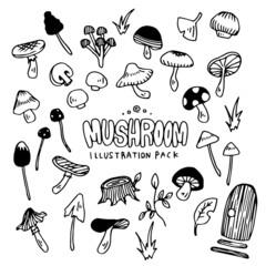 Mushroom Illustration Pack