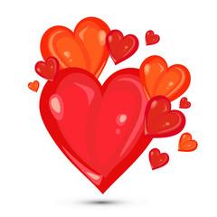 valentines hearts illustration