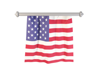 Pennant with flag of united states of america