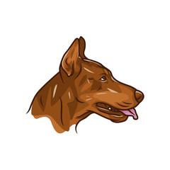 Animal Head - Dog - vector logo/icon illustration mascot