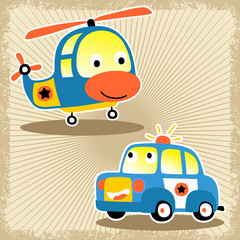 funny transportation cartoon vector