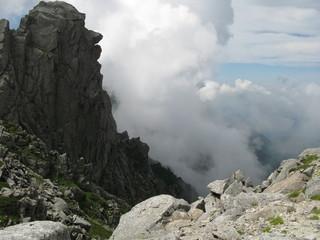 山頂から見た風景