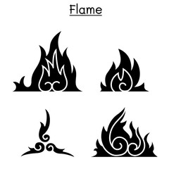 Flame , fire, burn vector