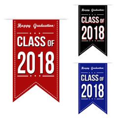 Class of 2018 banner design set