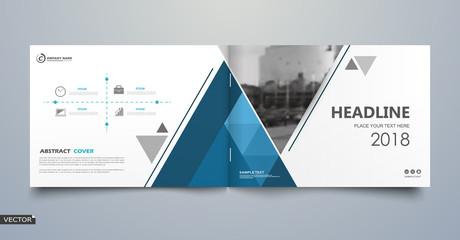 Black, white business book mockup. A4 brochure cover design. Hi tech info banner. Title sheet model set. Modern vector front page art. Urban city house texture. Blue line frame icon. Flyer text font.