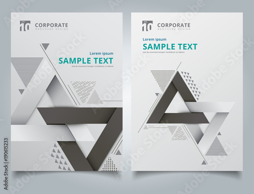 brochure geometric composition forms modern background with