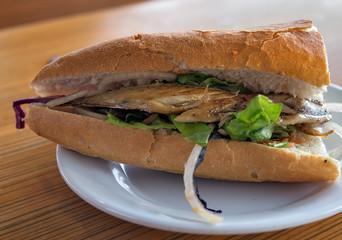 Fish sandwich street fast food