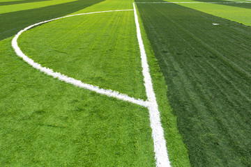 Soccer football field with artificial grass pattern
