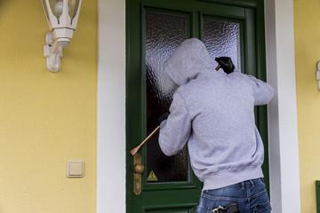 burglar on a doorstep