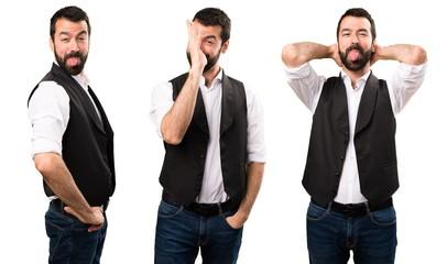 Set of Cool man making a joke