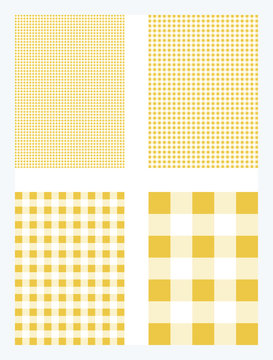 Yellow Gingham Pattern Background