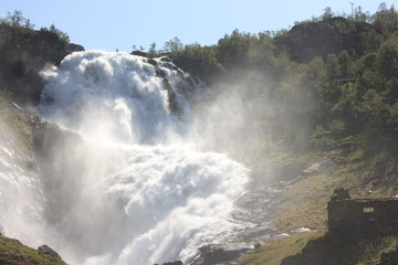 Kjosfossen is a waterfall located in Aurland municipality in Sogn og Fjordane county, Norway
