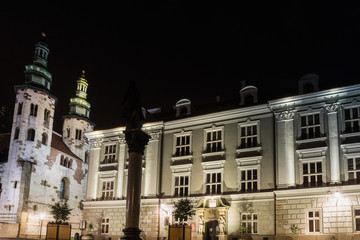 antique Church building in Krakow, Poland