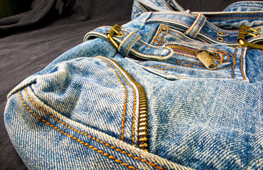 fittings on the jeans hand bag