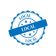 Local blue stamp illustration