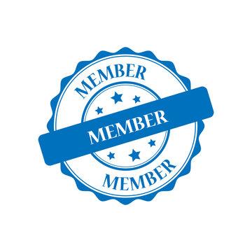 Member blue stamp illustration