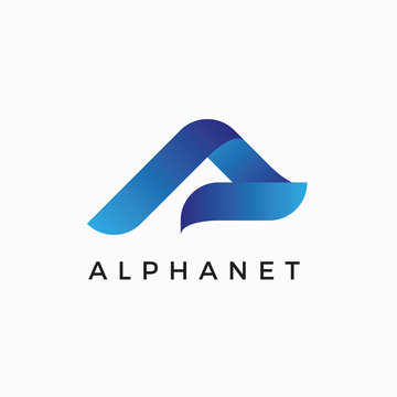 Alpha A Letter Logo Design Template