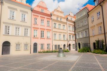 Strade del centro storico di Varsavia, Polonia