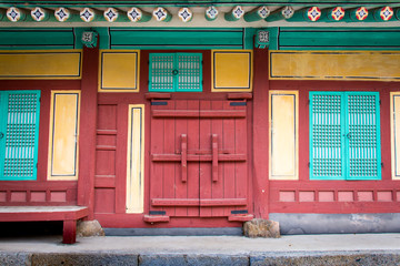 Korean traditional gates and windows.