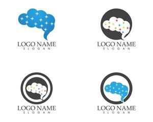 Brain logo design template