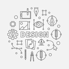 Design round line illustration. Vector graphic design symbol