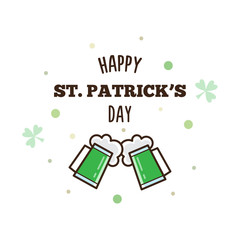 Happy St. Patrick's Day. Vector illustration.