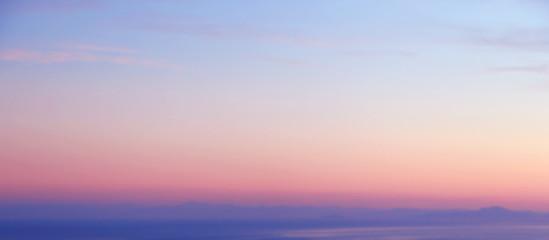 Romantic oceanic sunset