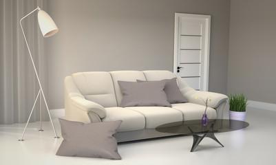 Living Room Interior - Room Scandinavian style. 3D rendering