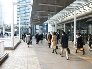 品川駅 朝の通勤風景