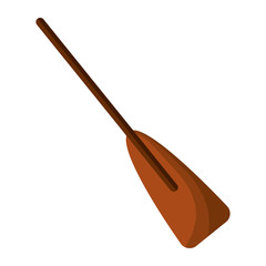 wooden boat oar sport object element vector illustration