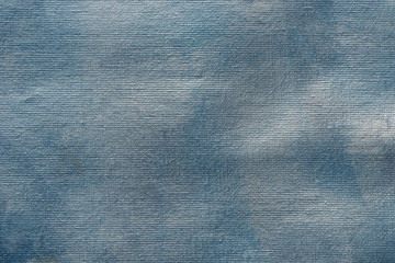 blue painted artistic canvas background texture
