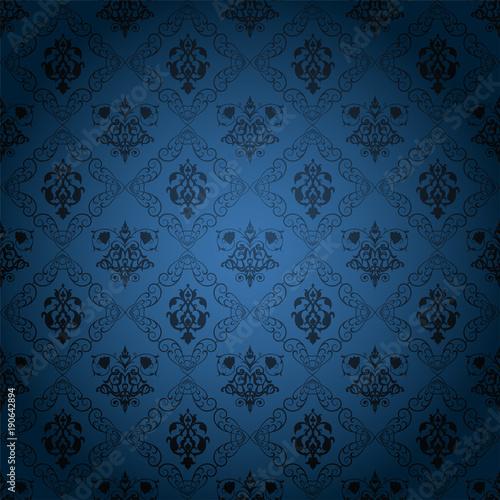 Victorian Dark Brown Background Decorative Wallpaper Vintage