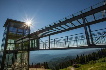 Großer Arber im Bayerischen Wald, Aufzug an der Bergstation