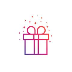 gift box vector icon, linear