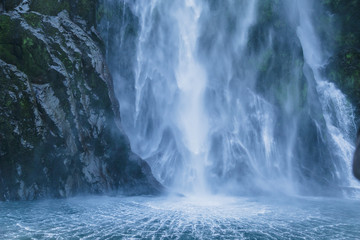 Stirling Falls. Milford Sound. Fiordland national park, South island, New Zealand