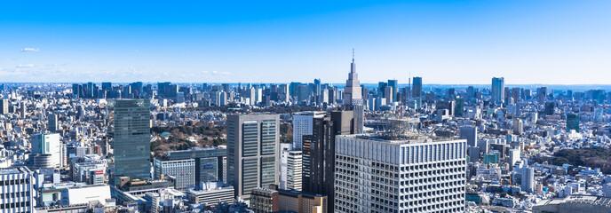 東京都庁から眺める都心部の町並み