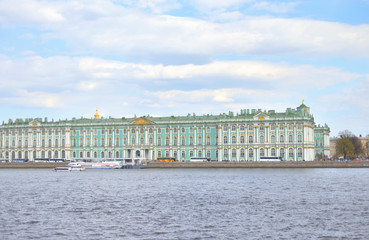 Winter Palace and Neva River.