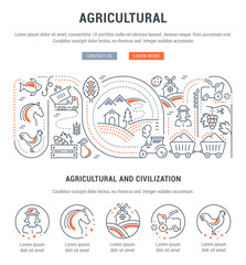 Website Banner and Landing Page of Agricultural.