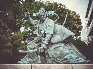 Samurai statue in Senso-ji temple, Tokyo, Japan
