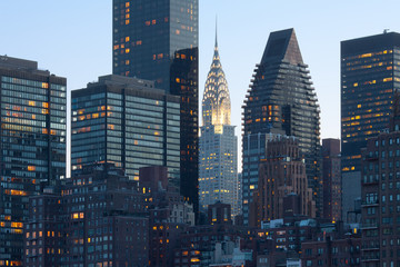 Foto op Plexiglas New York City Skyline of midtown Manhattan in New York City