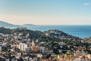 View of Marseille from basilica Notre-Dame de la Garde, France