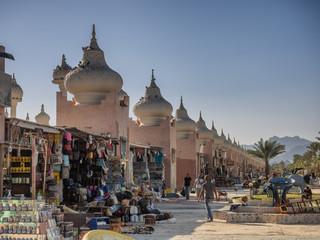 Market with onion domes in Sharm El-Sheikh Sinai